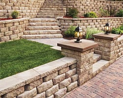 diamond 9D retainer wall dogwood landscaping GA