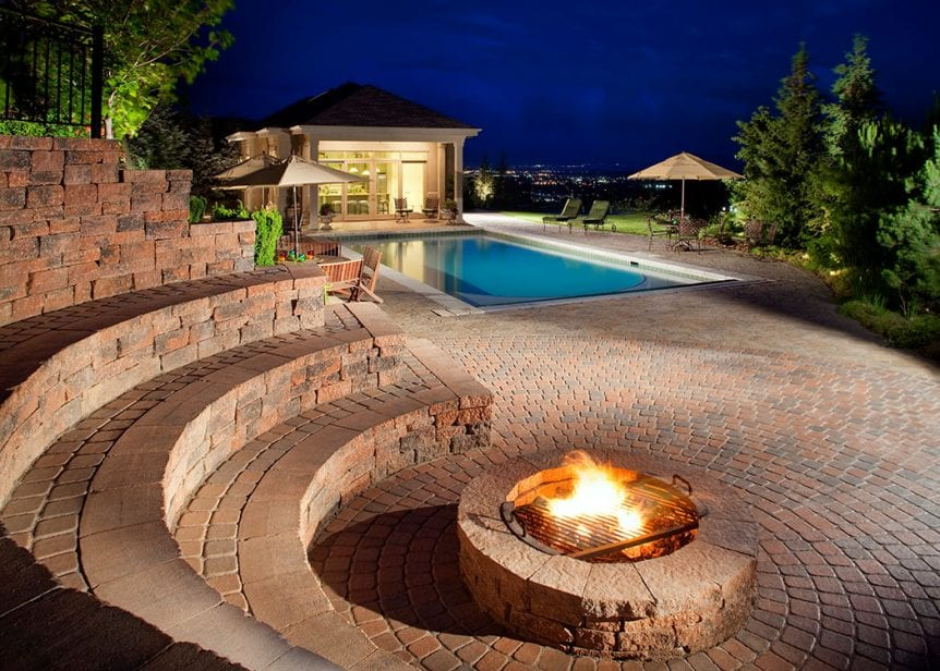 Fire Pits The Perfect Swimming Pool Add On Dogwood Landscaping